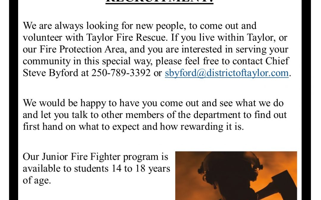 Taylor Fire Rescue is Recruitment