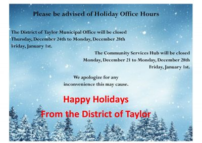 Please Be Advised Of Holiday Office Hours