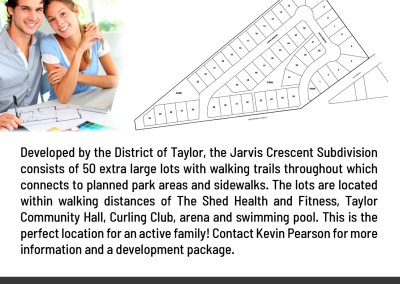 Jarvis Crescent Subdivision Lots Now Available